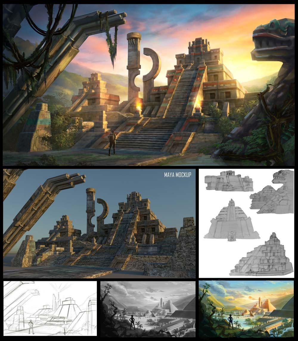Aztec-Temple---Xiaoya-Lin-Process