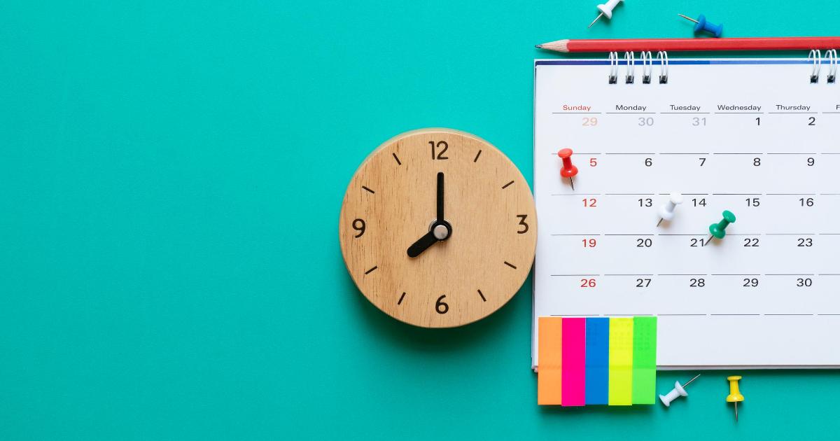 Using a calendar to make a schedule