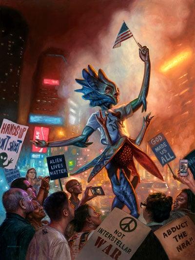 Eric Wilkerson Art Alien Lives Matter