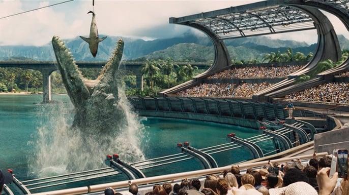 mosasaurus eating shark 1