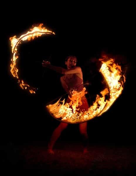 Fire Twirler Photo By Patrick Conaty