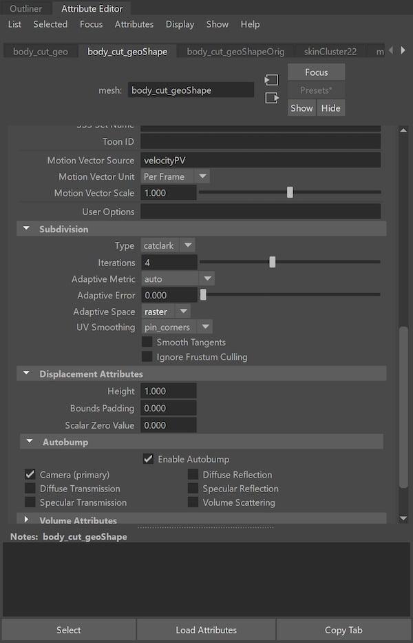 Massimiliano Moro render settings 2