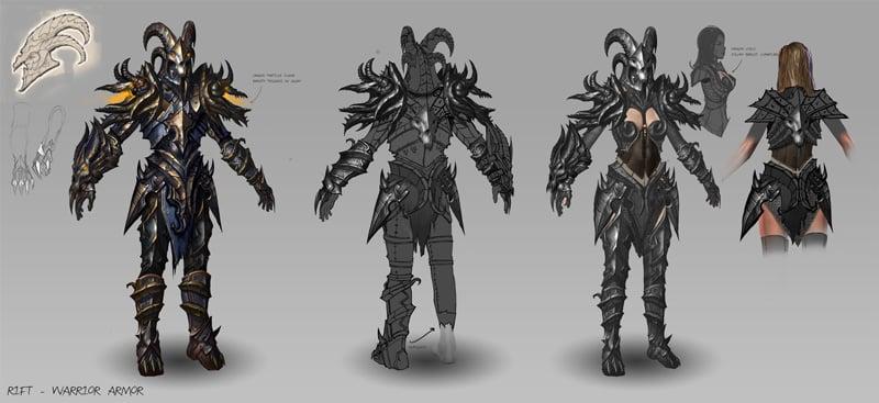 Warrior Armor Concept Art, Rift, by Tyler James
