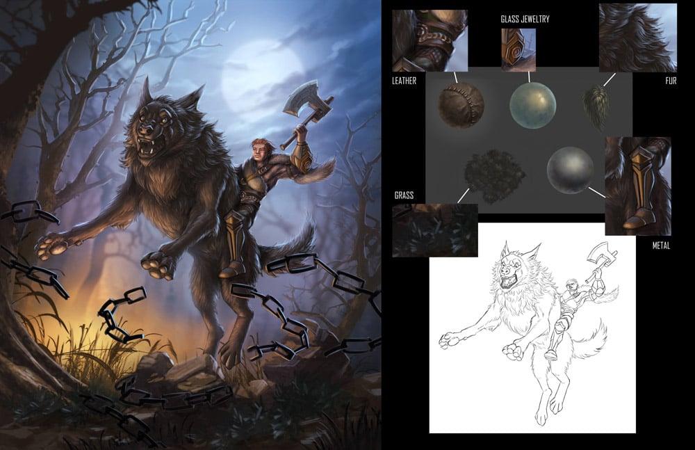 Warrior Illustration Xiaoya LiN