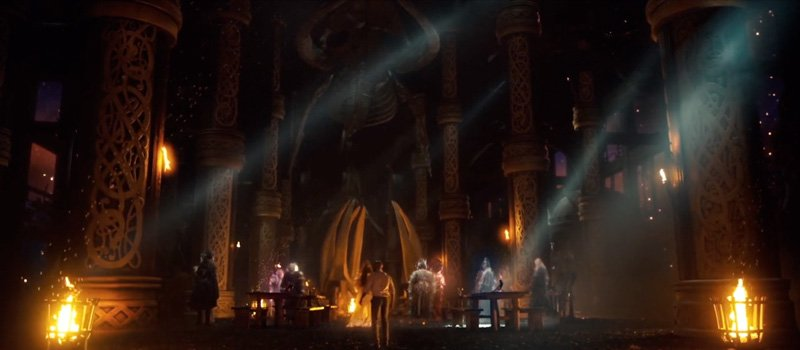 American Gods: Nuke Compositor Brittany was responsible for Temp CG assembly, FG character roto, match plate god rays over CG