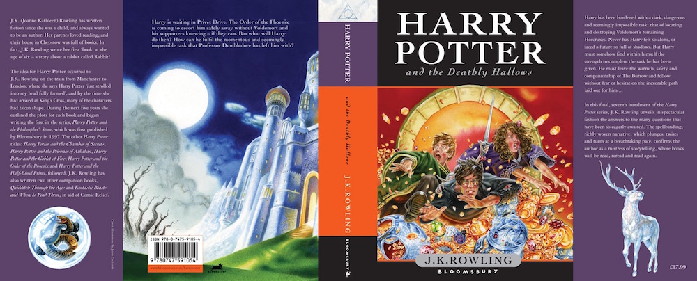 harry potter deathly hallows cover art