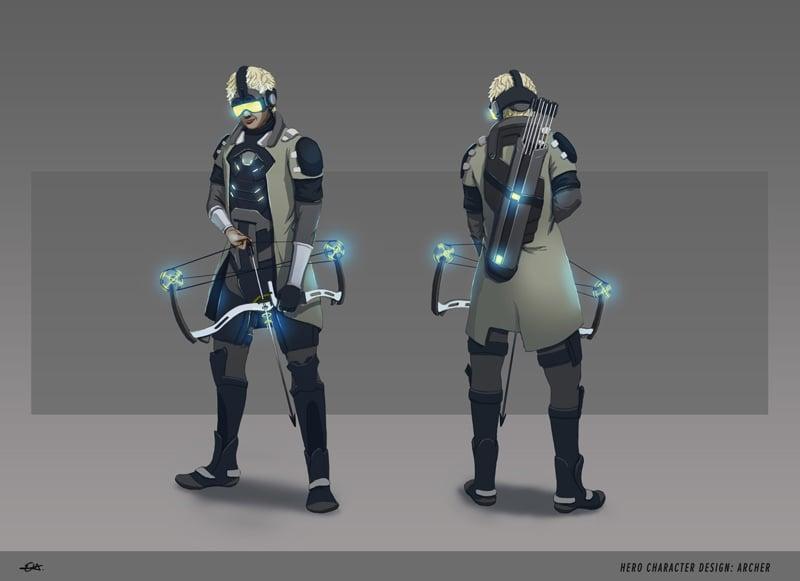 Erika Hornakova Concept Art - Futuristic Archer