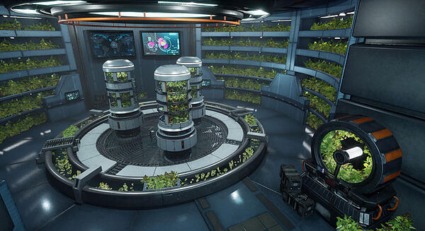 3D Model of Hydroponics Lab by Advanced 3D Modeling Course Graduate Paul Griffin