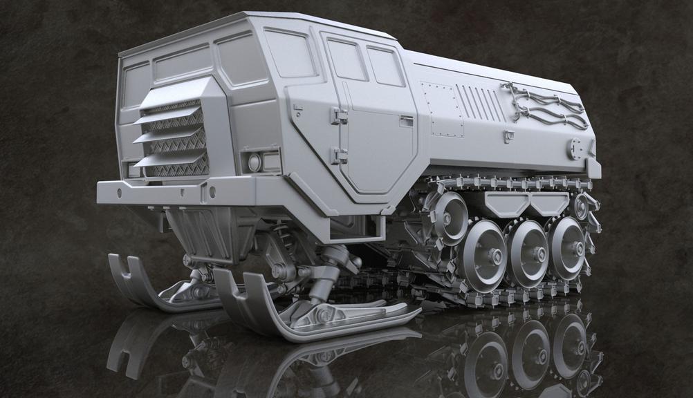 Tyler-De-Block-Snow-Tank-Model-In-Progress