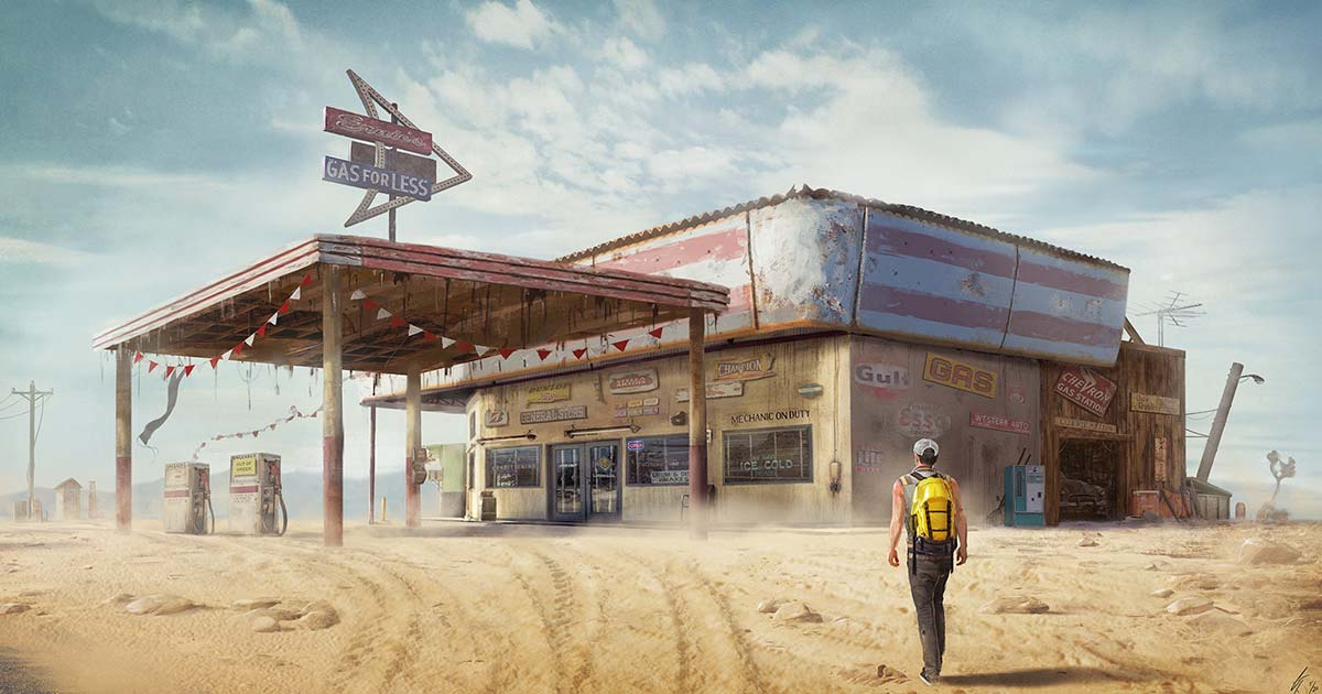 Gerrin Tramis Gas Station Concept Art
