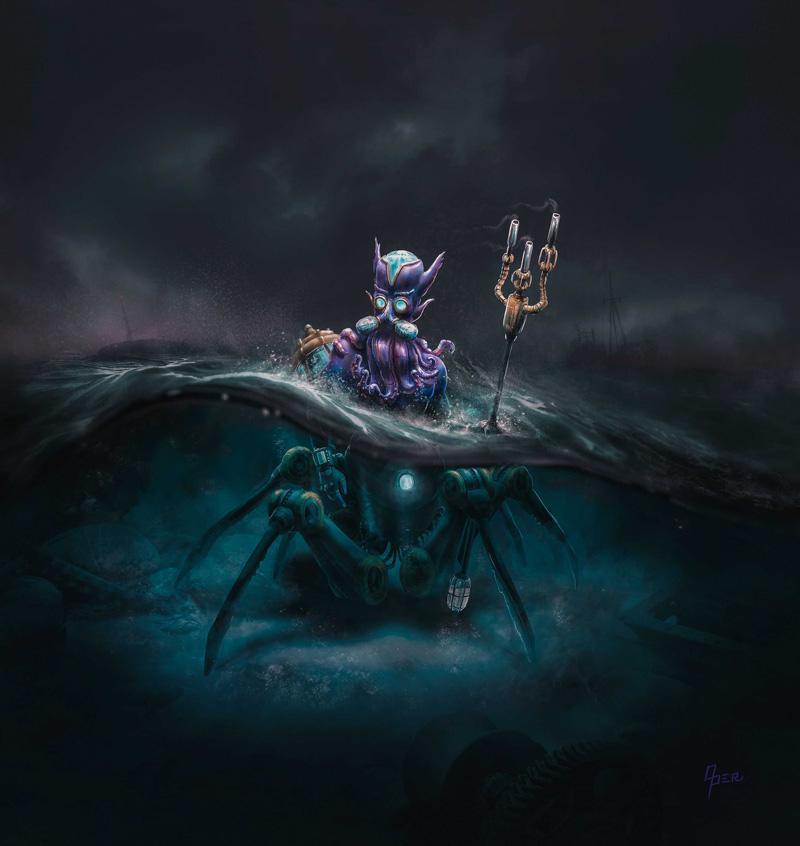 Indrek Oper Digital Painting Neptune