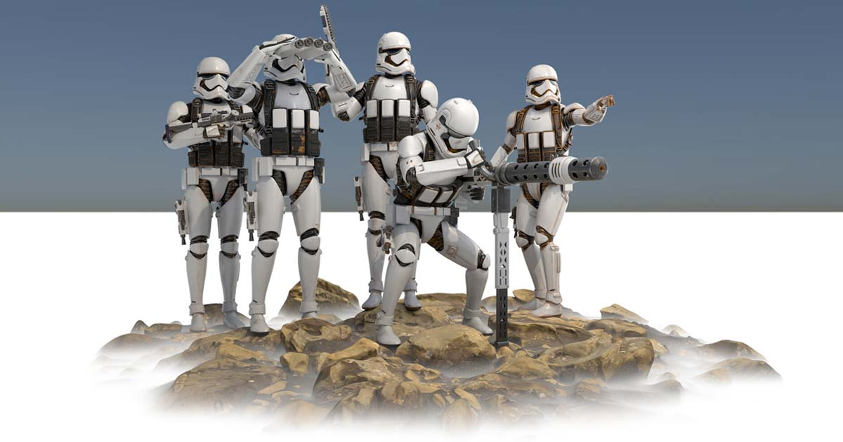Stormtroopers 3D Model by Massimiliano Moro