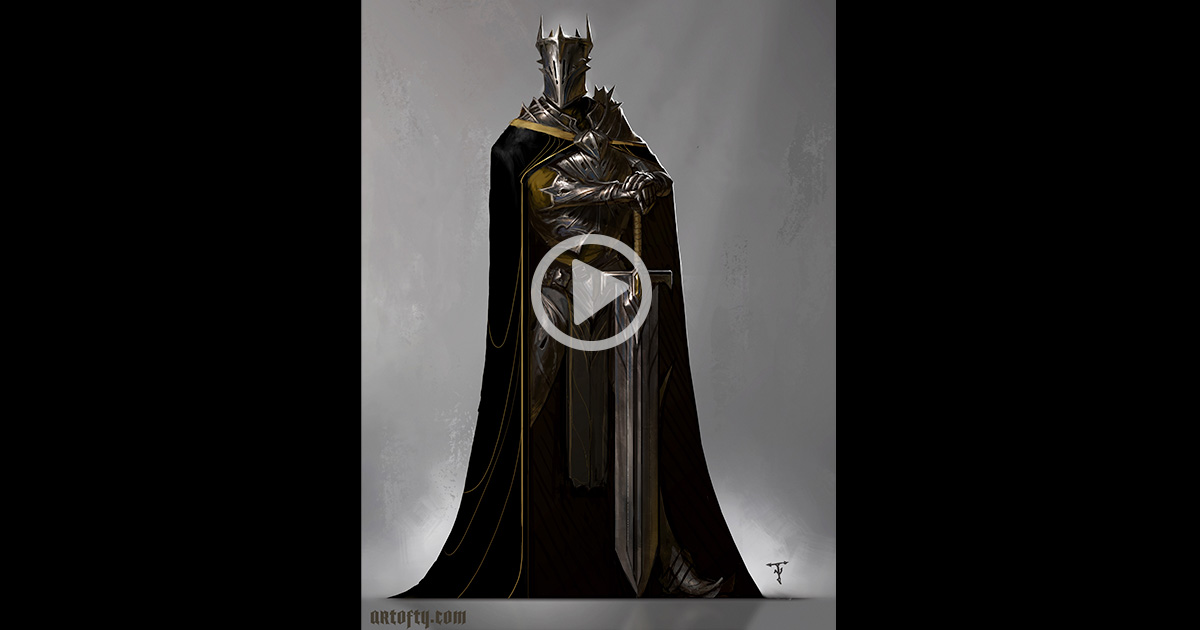 Black Knight: Character Concept Art Demo with Tyler James